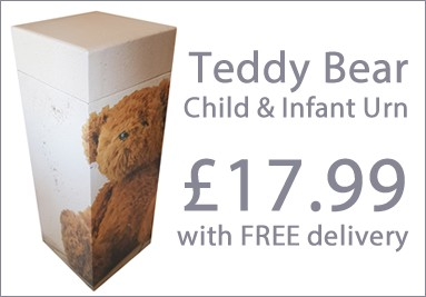 ScatterPod Teddy Bear Child & Infant Ashes Cremation Urn